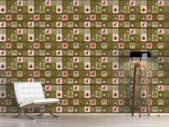 Designtapete Weihnachten Im Holzkasten