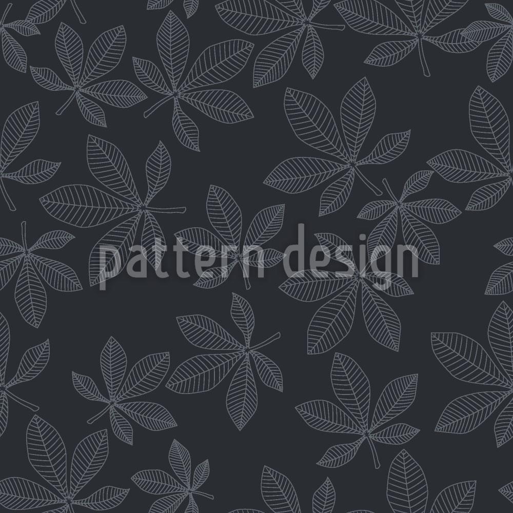 Designtapete Kastanienblätter Im Winterkleid