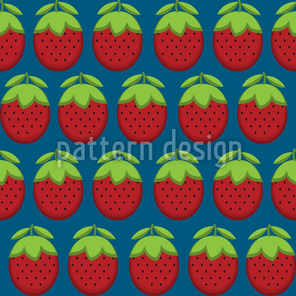 Designtapete Erdbeeria