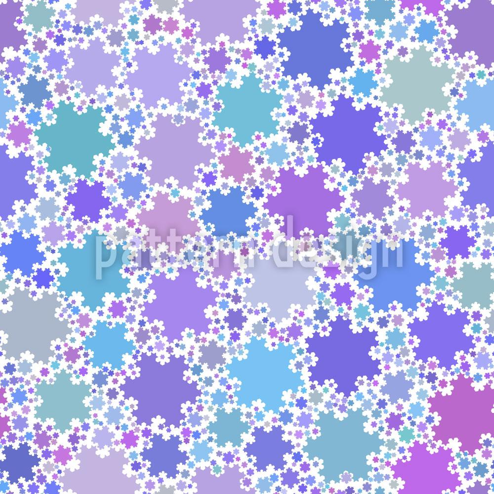 Designtapete Fraktale Schneeflocken