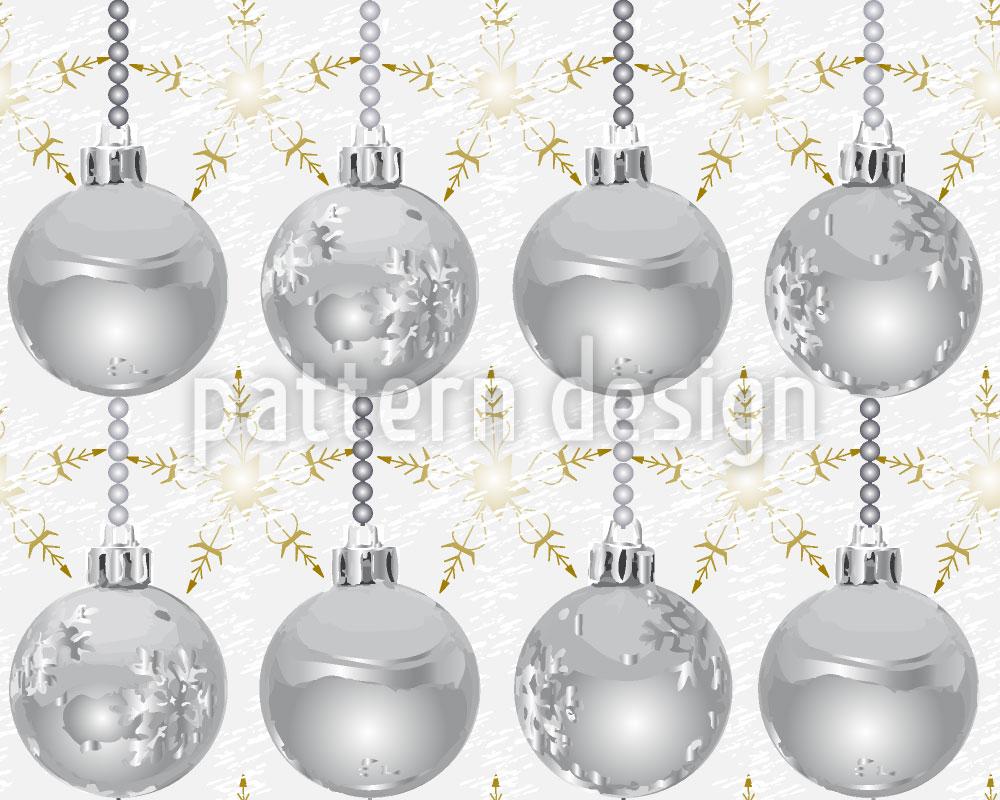 Designtapete Sterne Glänzen Mit Silberkugeln