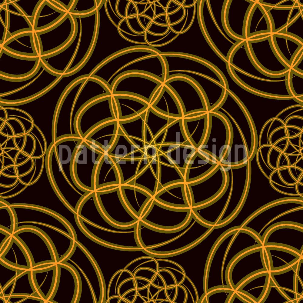 Designtapete Goldene Räder