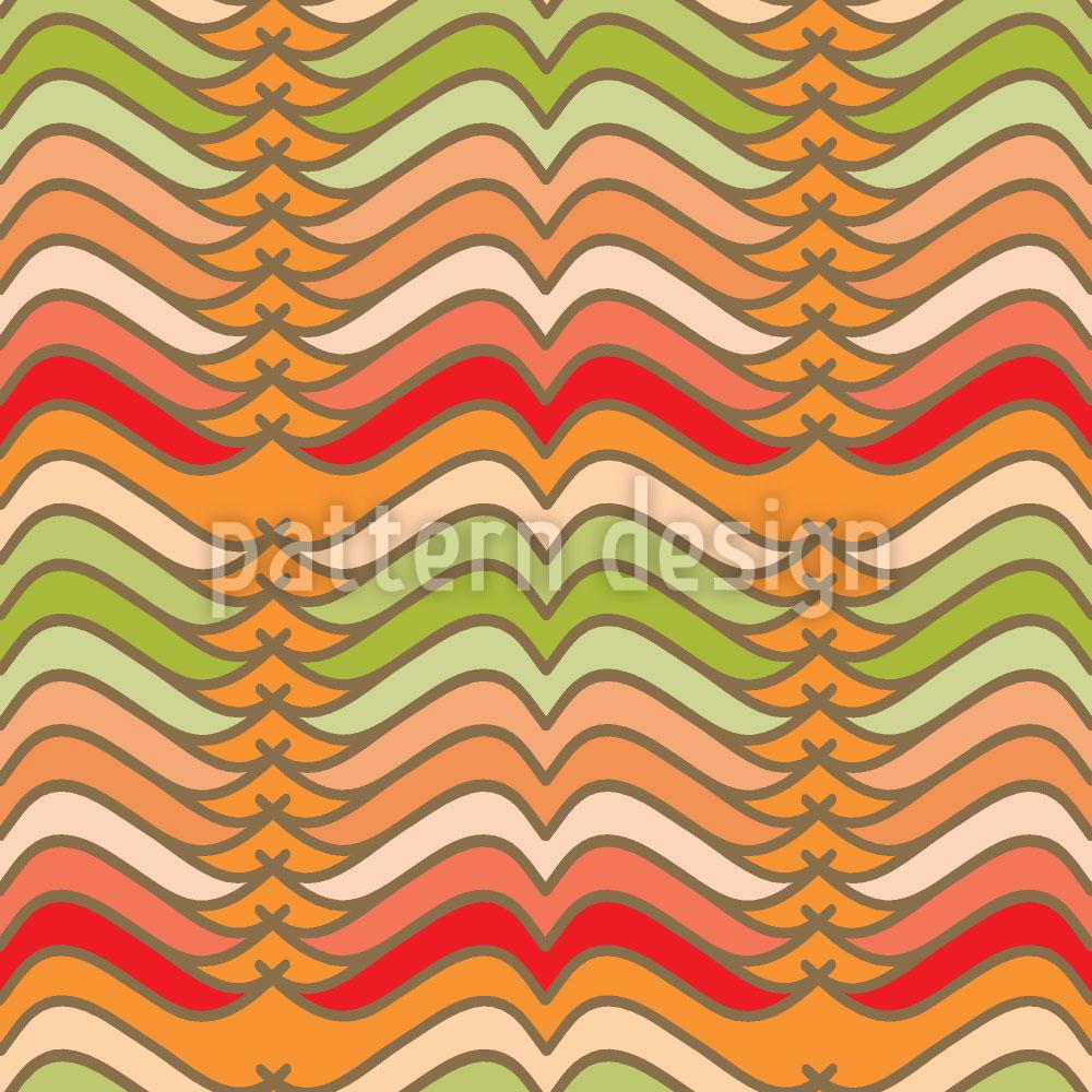 Designtapete Mustache Waves
