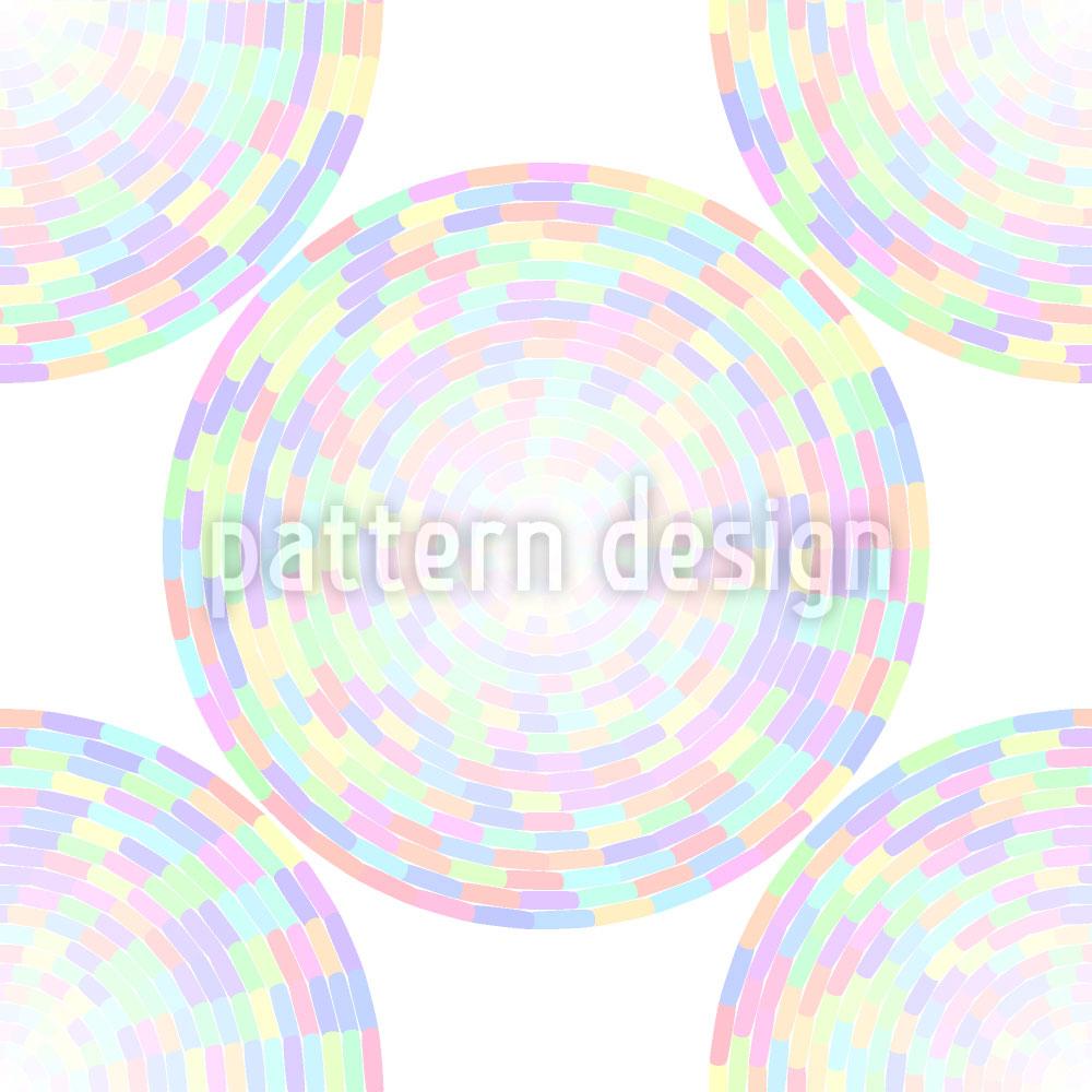 Designtapete Soft Hyptnotic Mandala