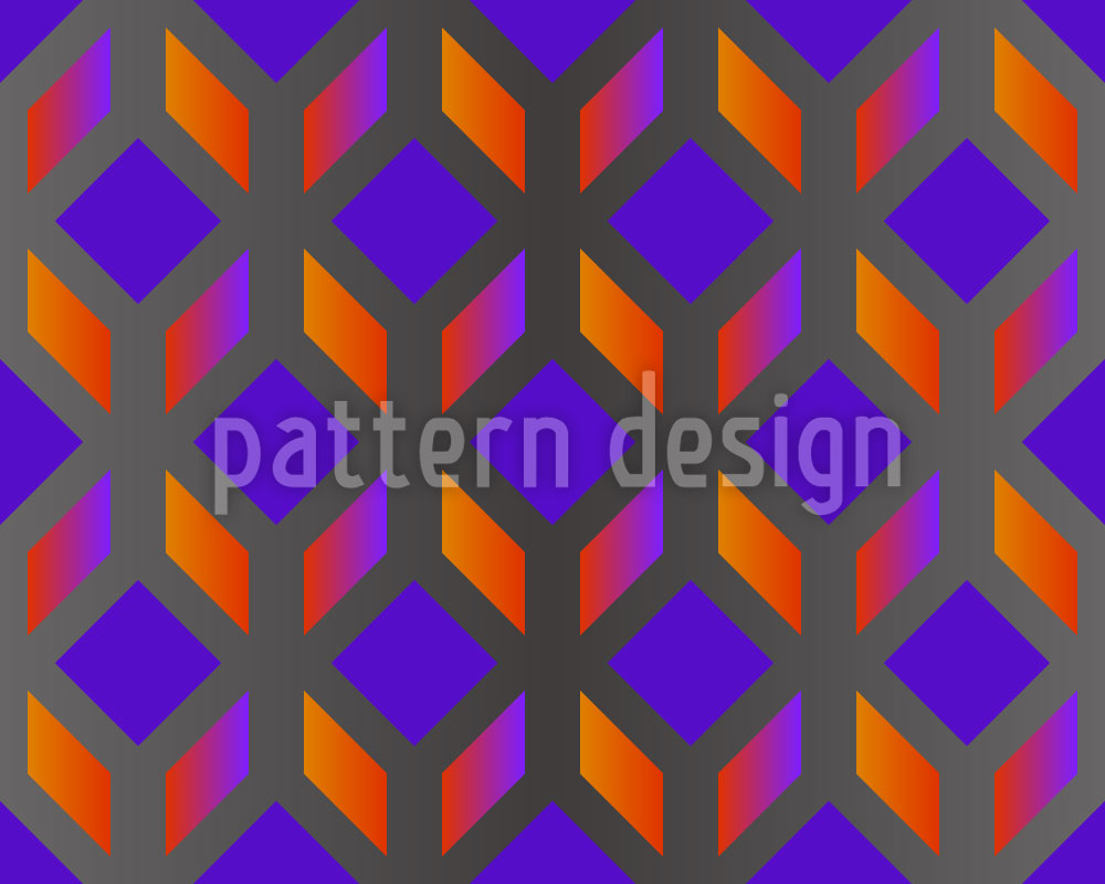 Designtapete Blockwork Orange