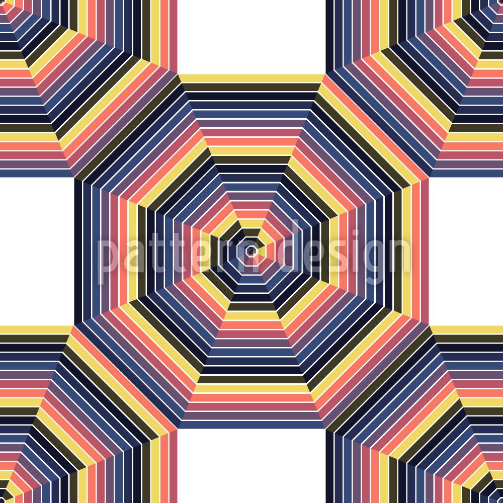 Designtapete Mandala Im Oktagon