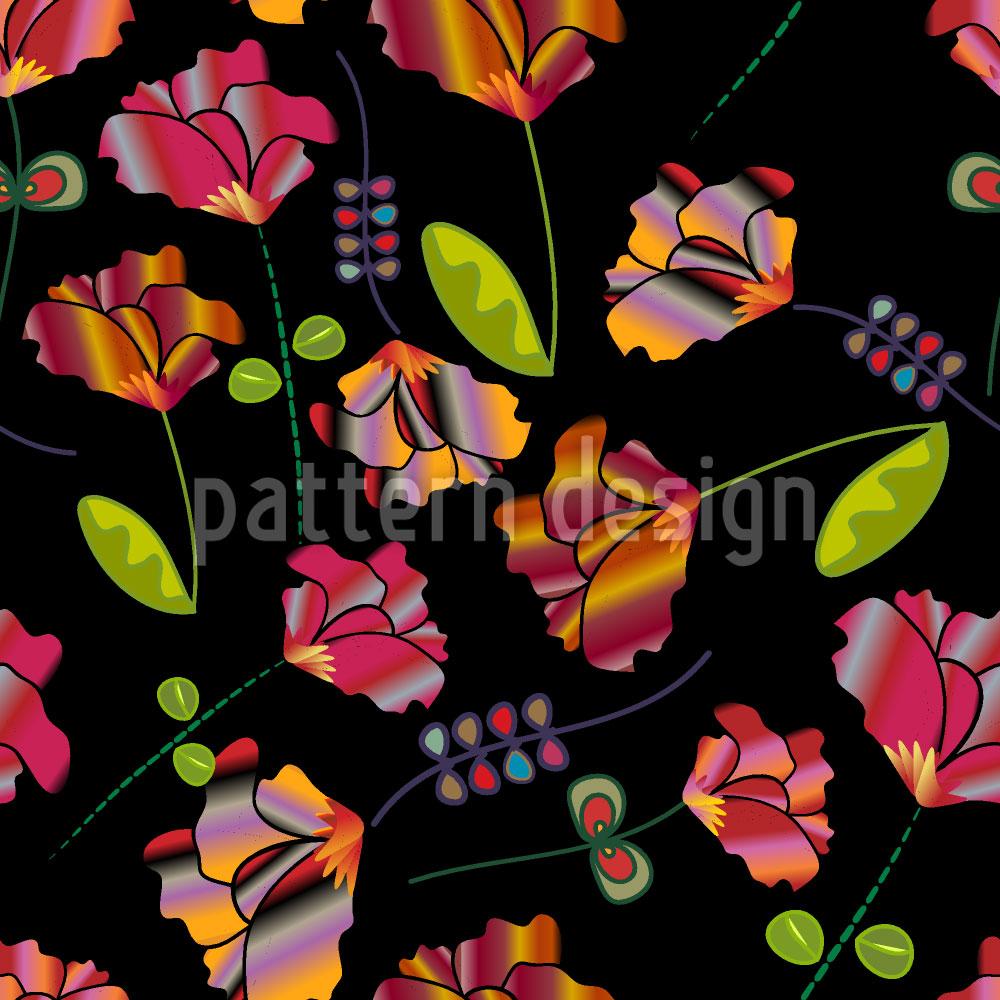 Designtapete Blumen Aus Peru