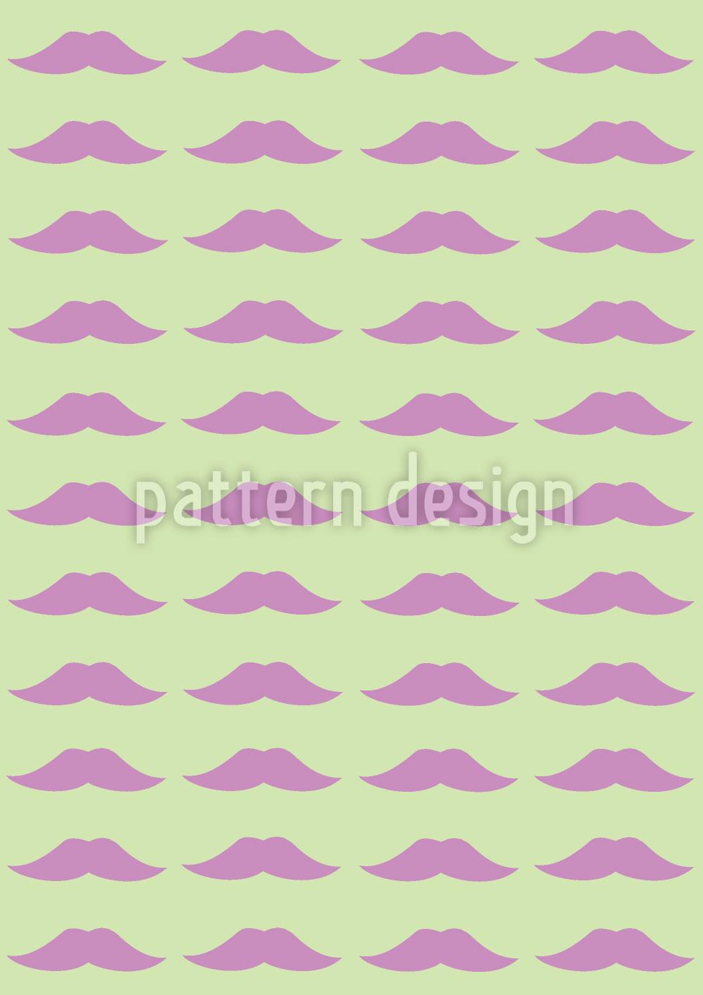 Designtapete Monsieur Poirots Bart