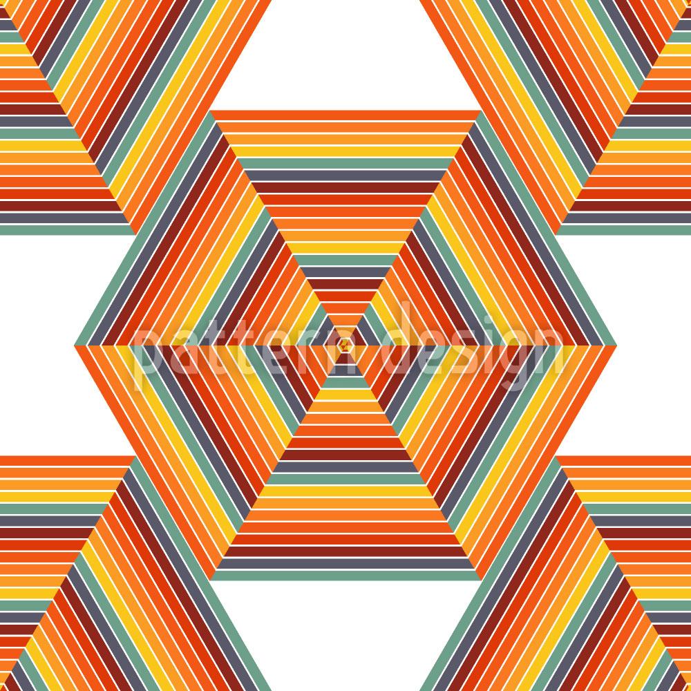 Designtapete Nuklear Hexagon