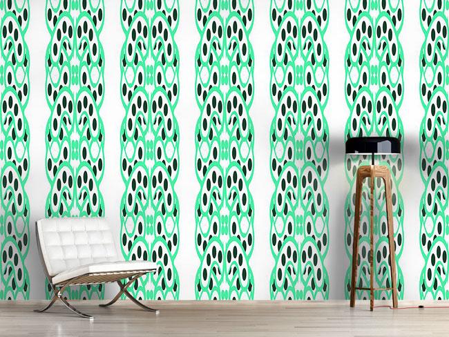 Designtapete Grüne Alleen