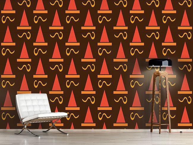 Designtapete Hut Deco