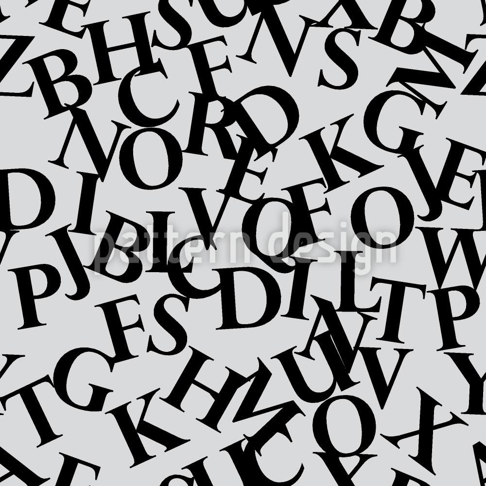 Designtapete Perpetuas Buchstaben