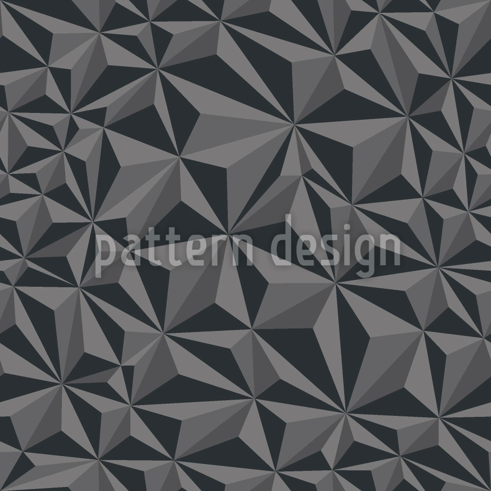 Designtapete Papier Geometrie Dunkelgrau
