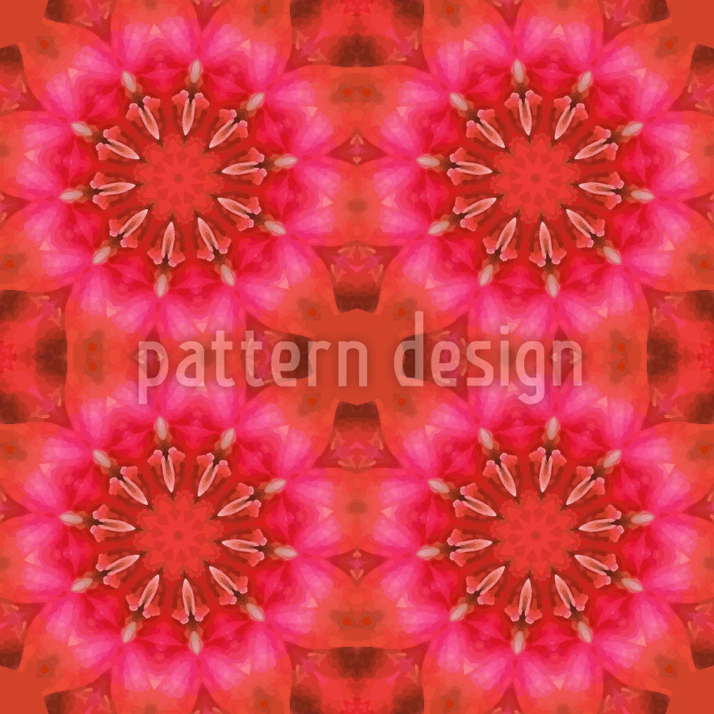 Designtapete Pandora Flora Rot