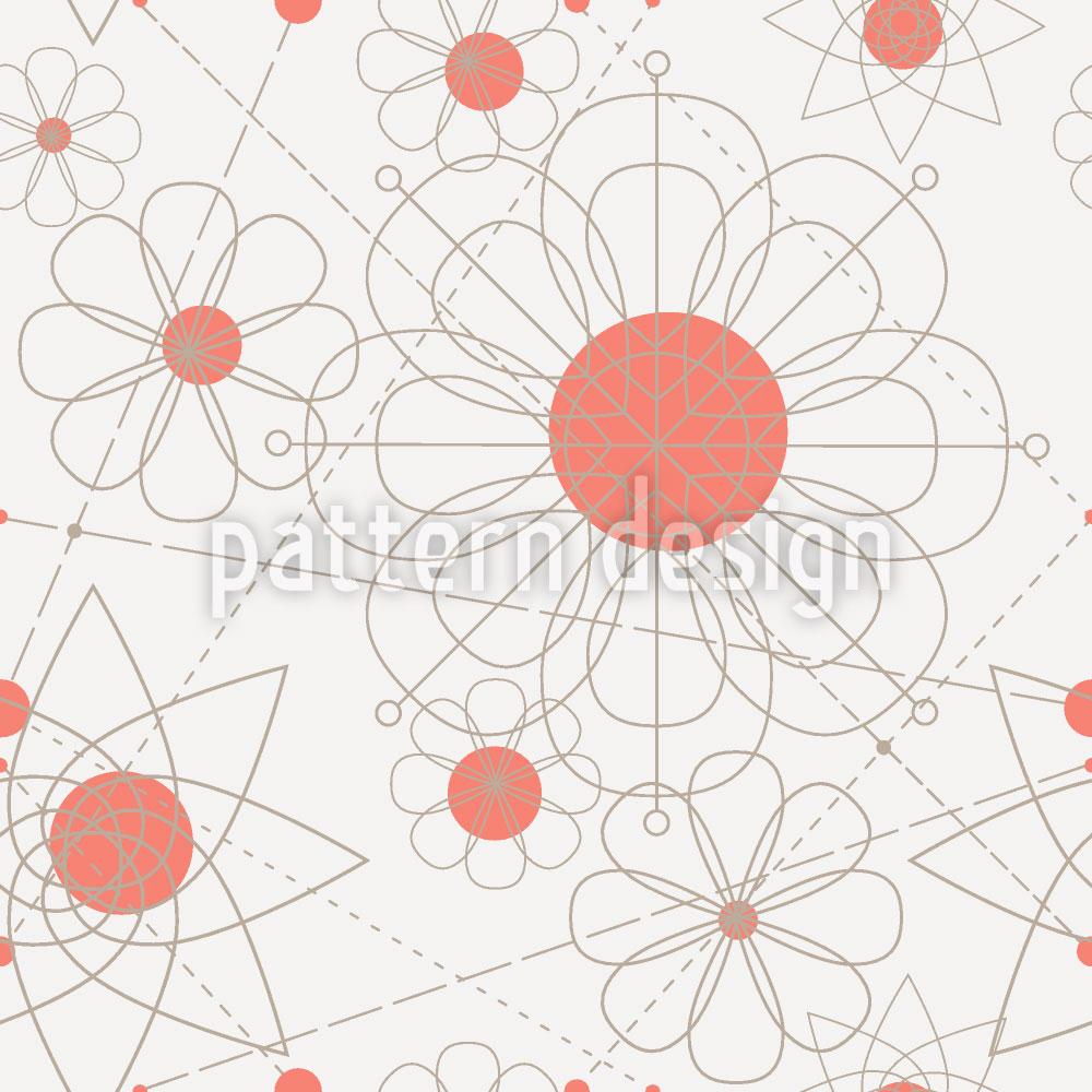 Designtapete Konstruktion Floral