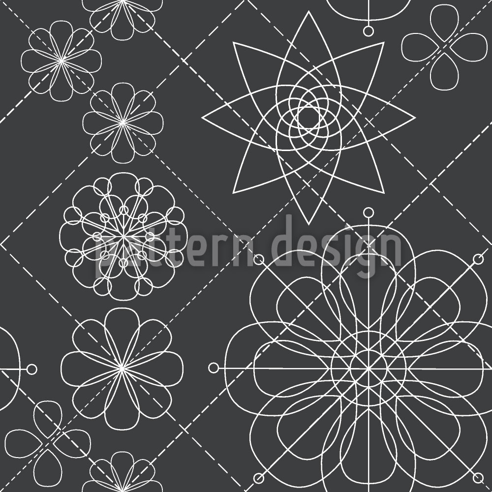 Designtapete Blumen Konstruktion