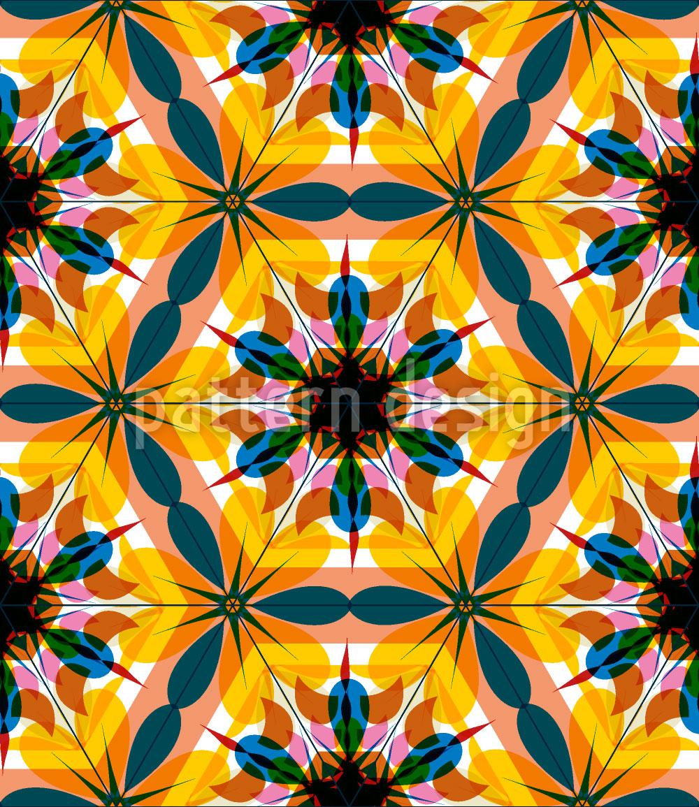 Designtapete Kaleidoskop Extrem Bunt