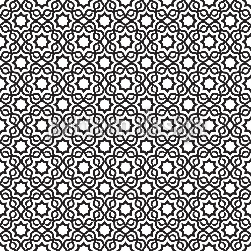 Designtapete Islamic Black And White