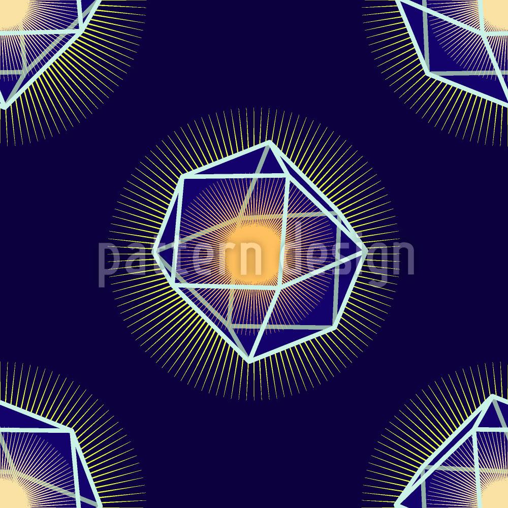 Designtapete Polygones Leuchten