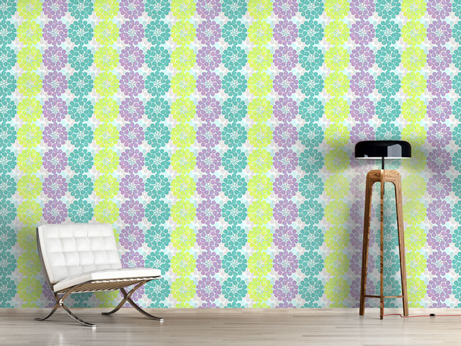 Designtapete Kleeblüte Pastell