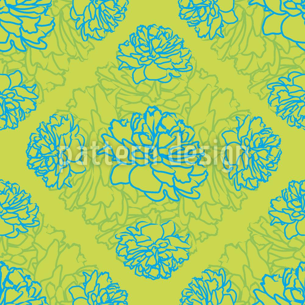 Designtapete Rosen Träumen Auf Limettengrün