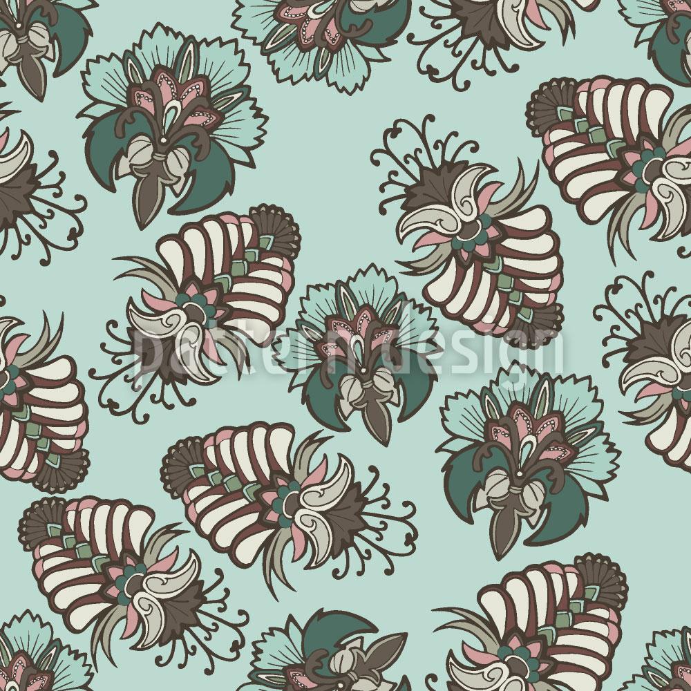 Designtapete Üppige Flora Baltik
