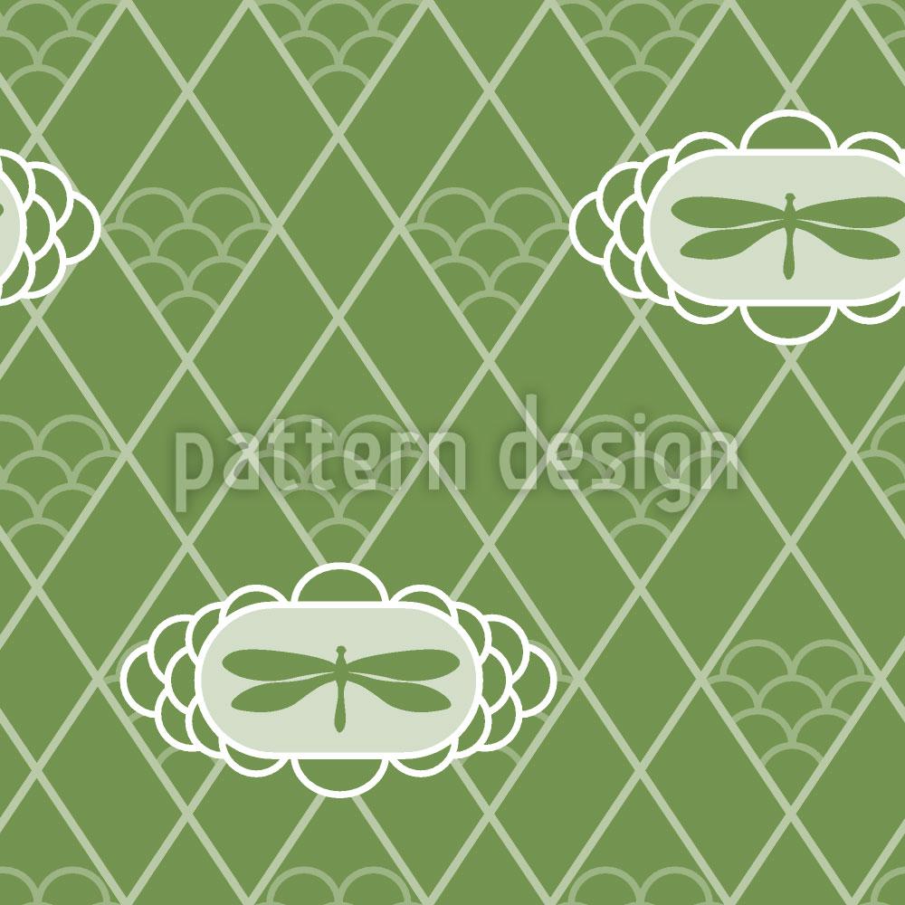 Designtapete Libellen Verde