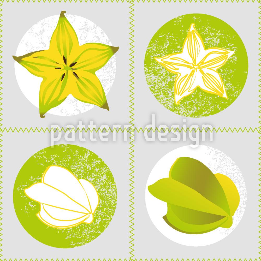 Designtapete Frische Sternfrucht
