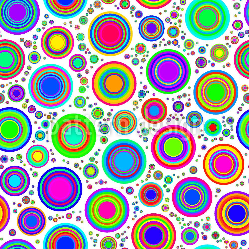 Designtapete Neon Bubbles