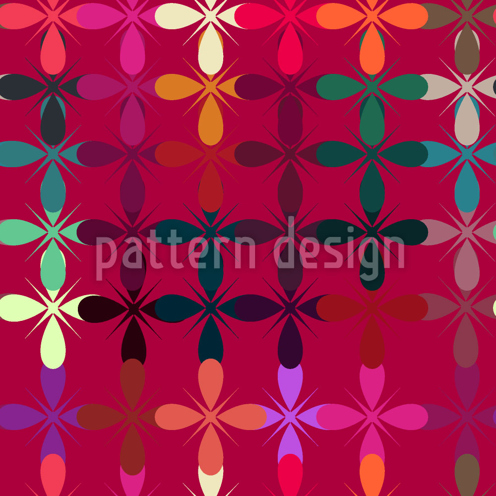 Designtapete Abstraktes Blumenbeet