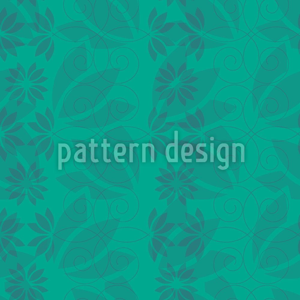 Designtapete Blumenblatt Mint