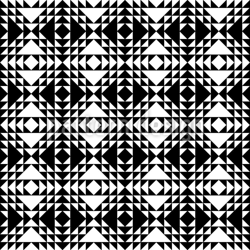 Designtapete Triangel Monochrom