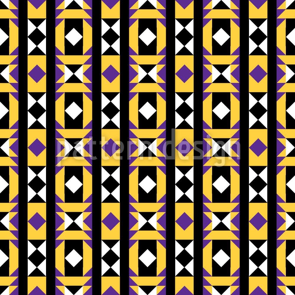 Designtapete Geometrie Latin
