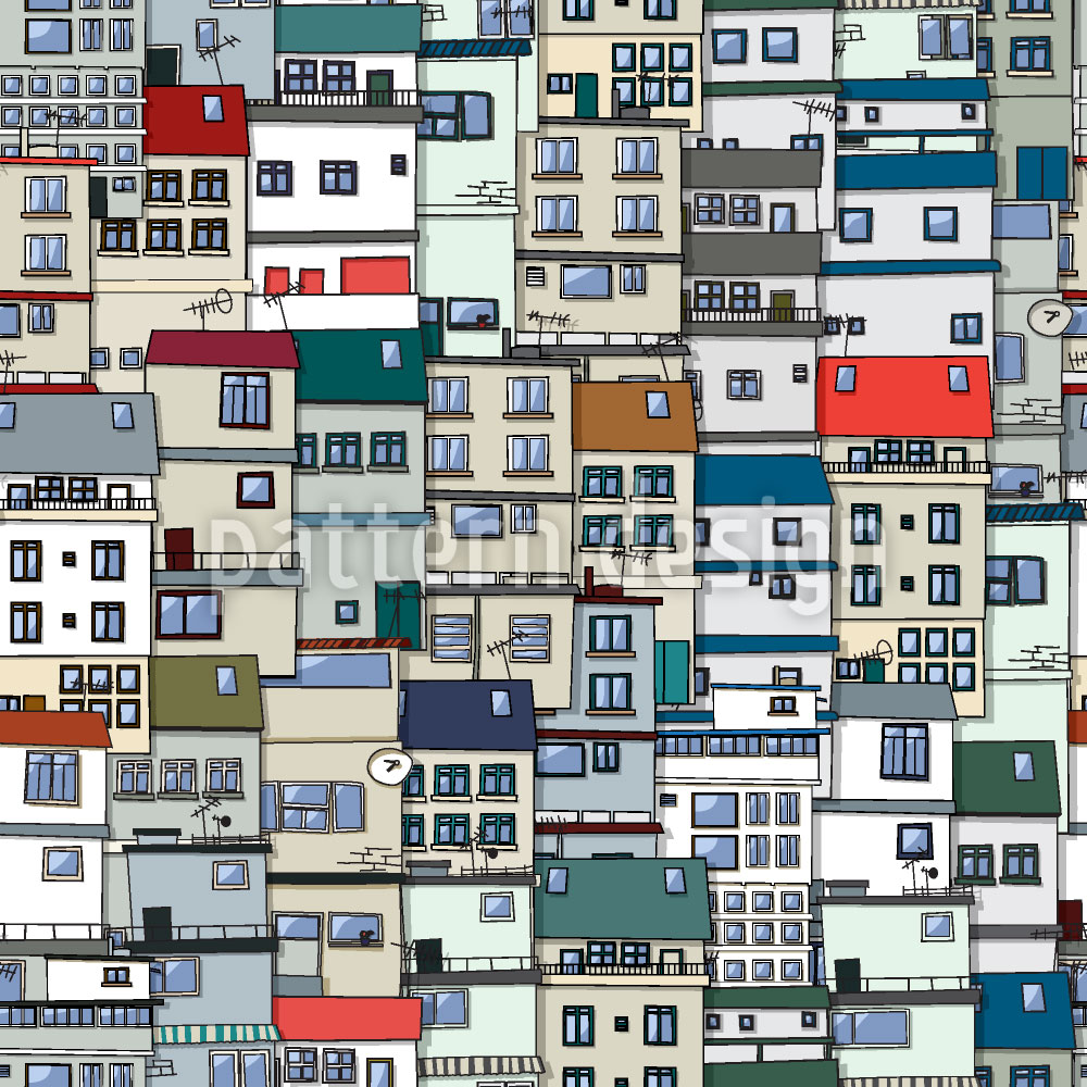 Designtapete Kleine Seite Der Stadt