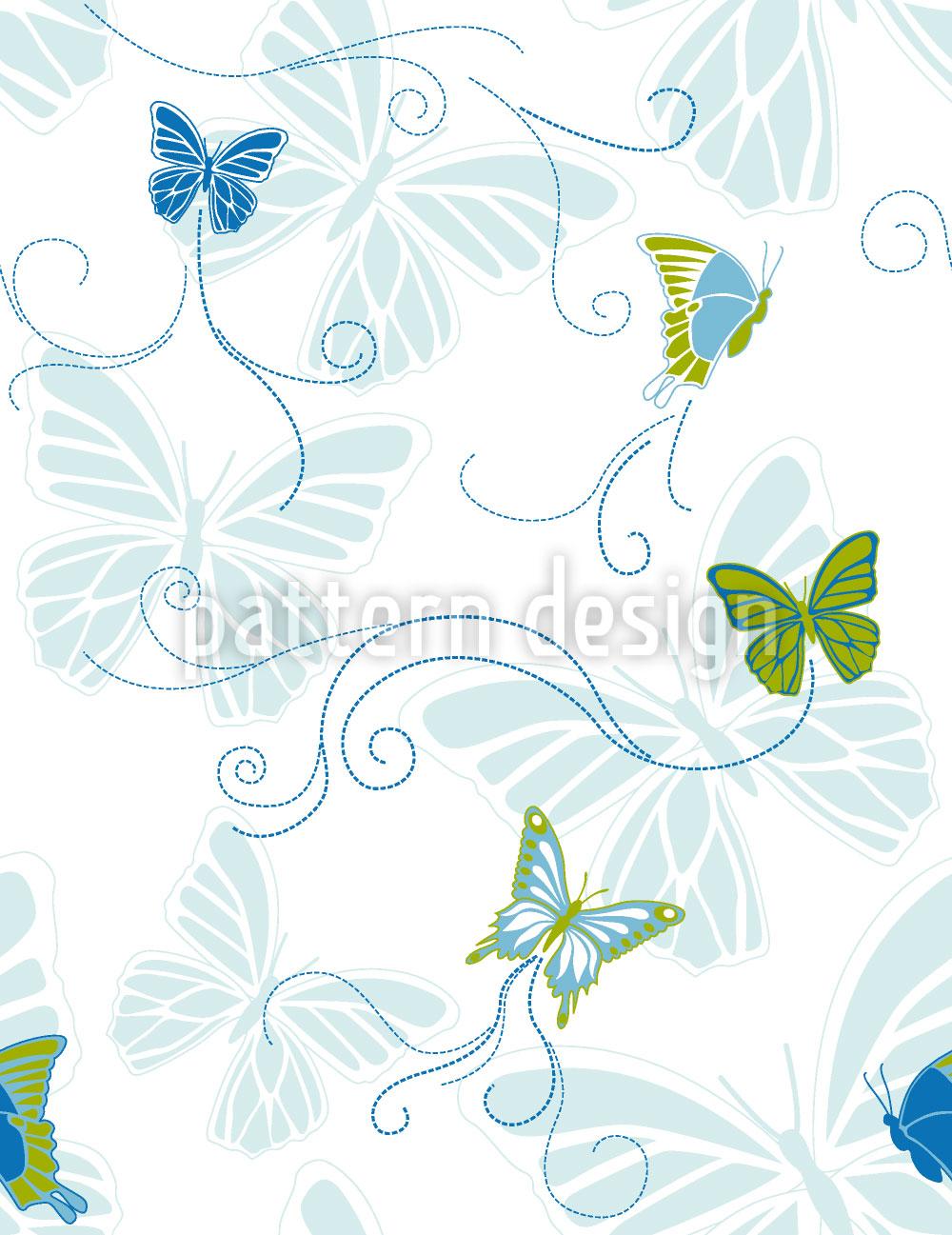 Designtapete Schmetterlinge Am Wasser