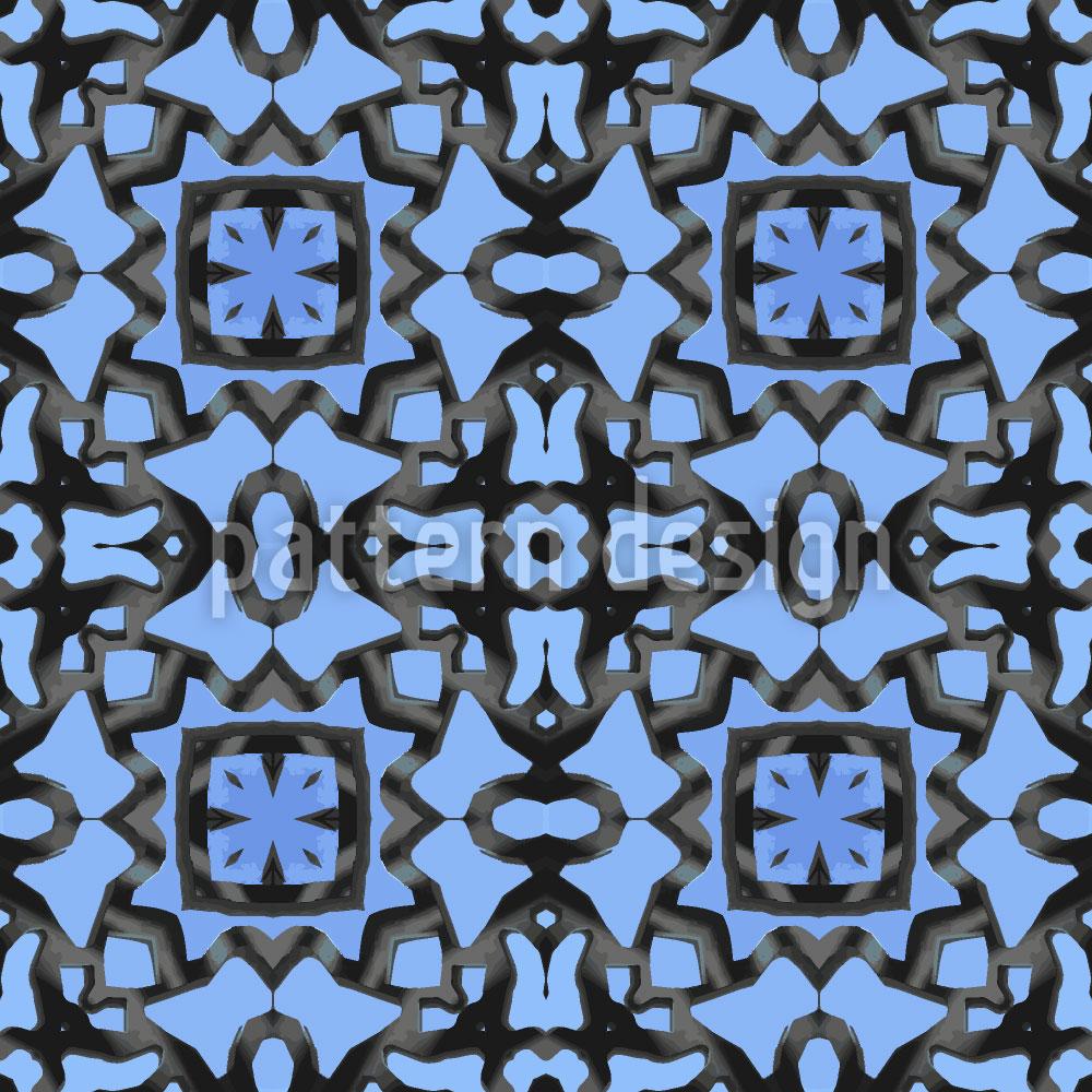 Designtapete Blauer Orient