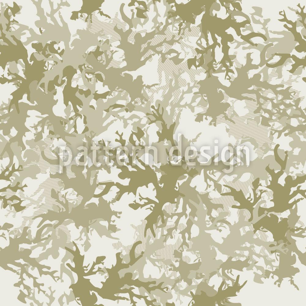Designtapete Wüsten Camouflage