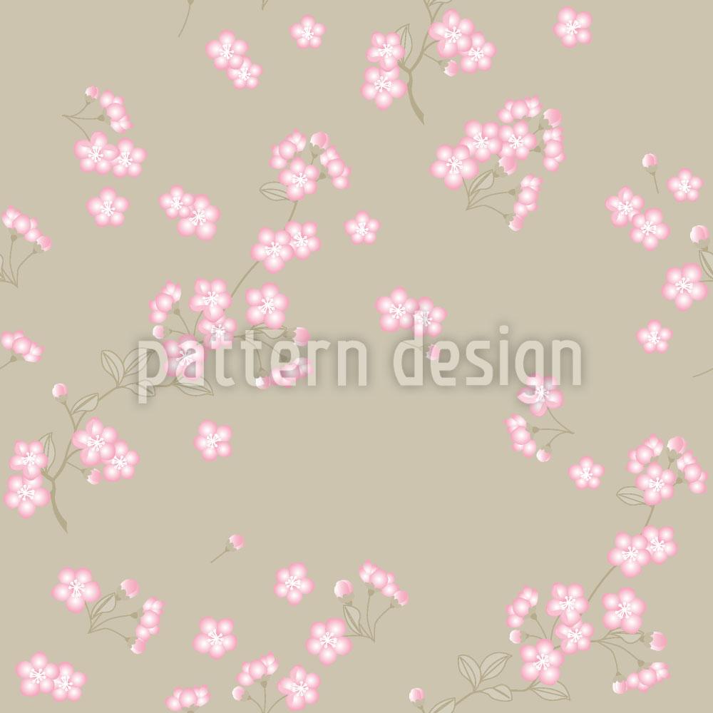 Designtapete Kirschblüten Auf Sand