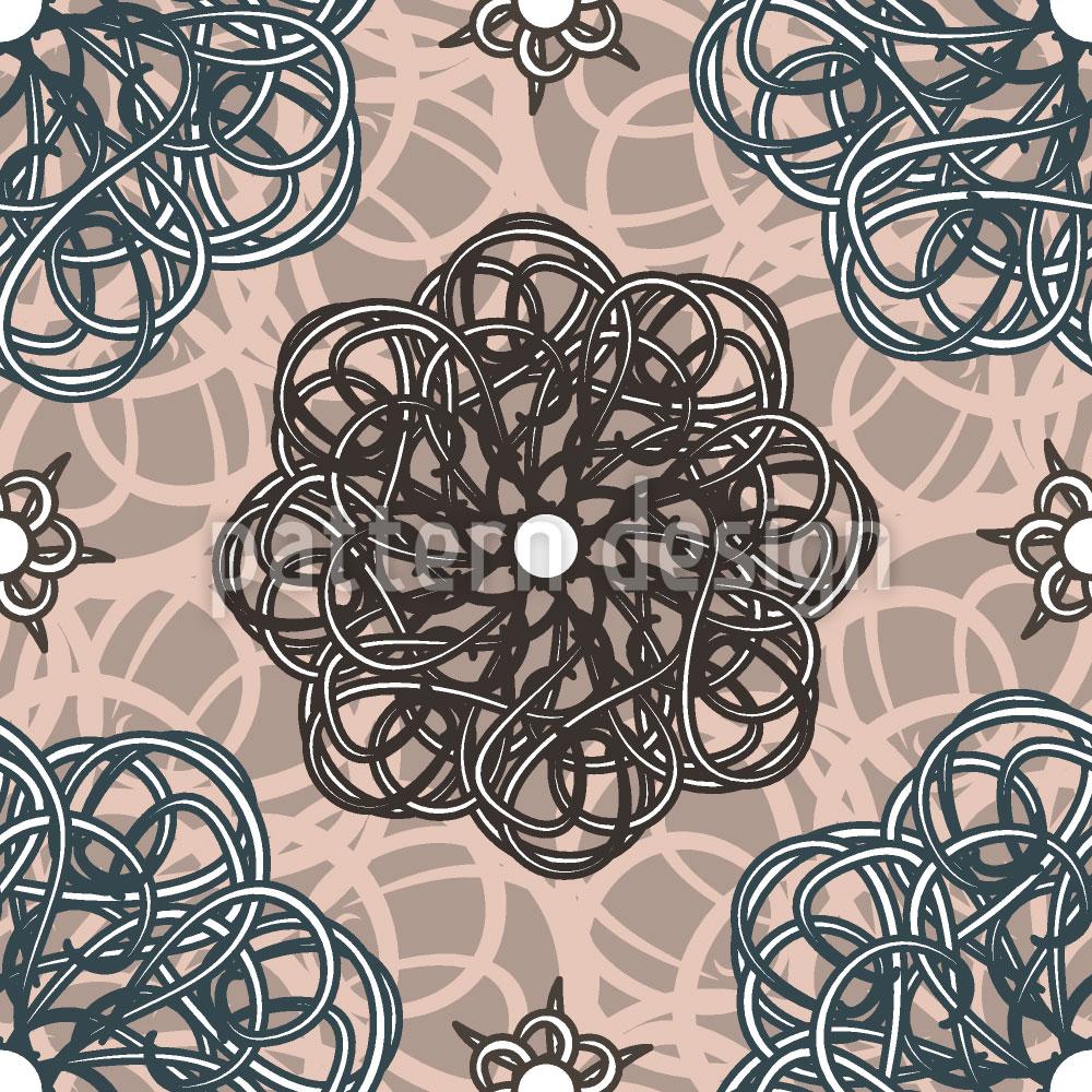 Designtapete Blumen Aus Fantasia