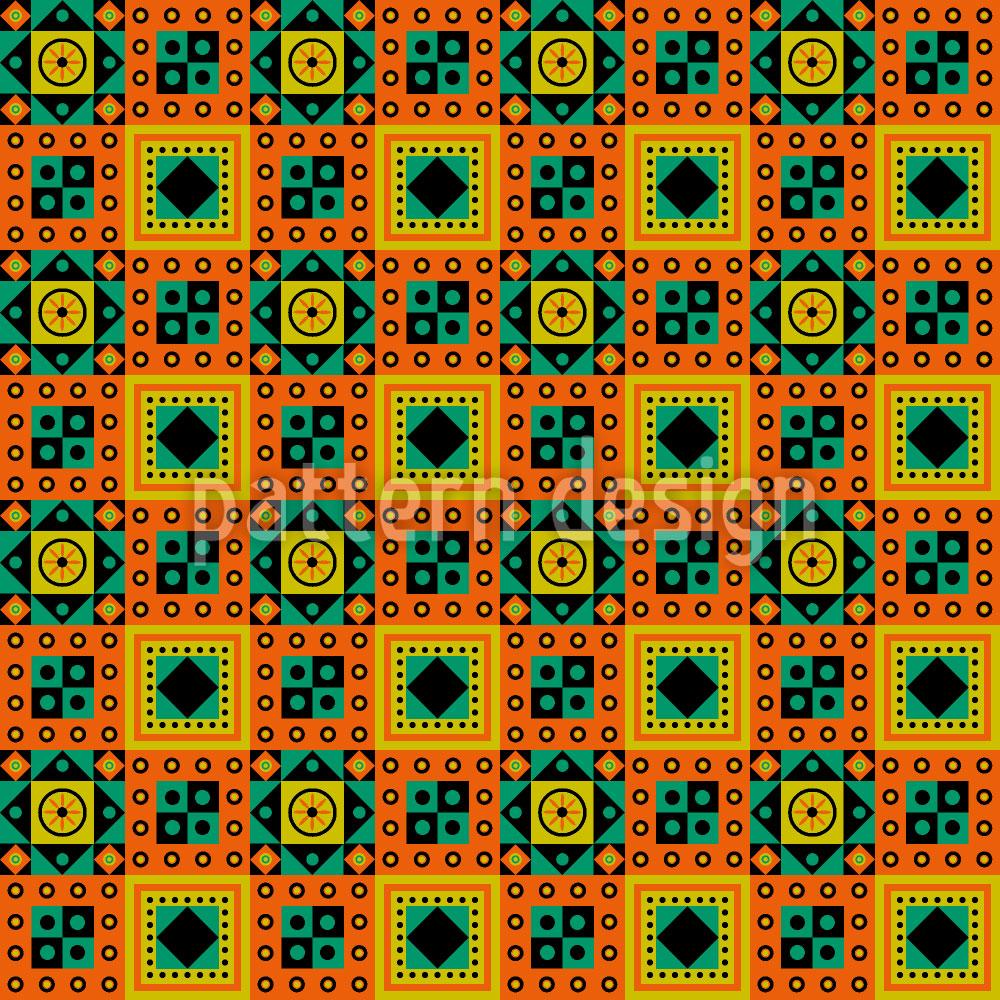 Designtapete Ethno Zum Quadrat