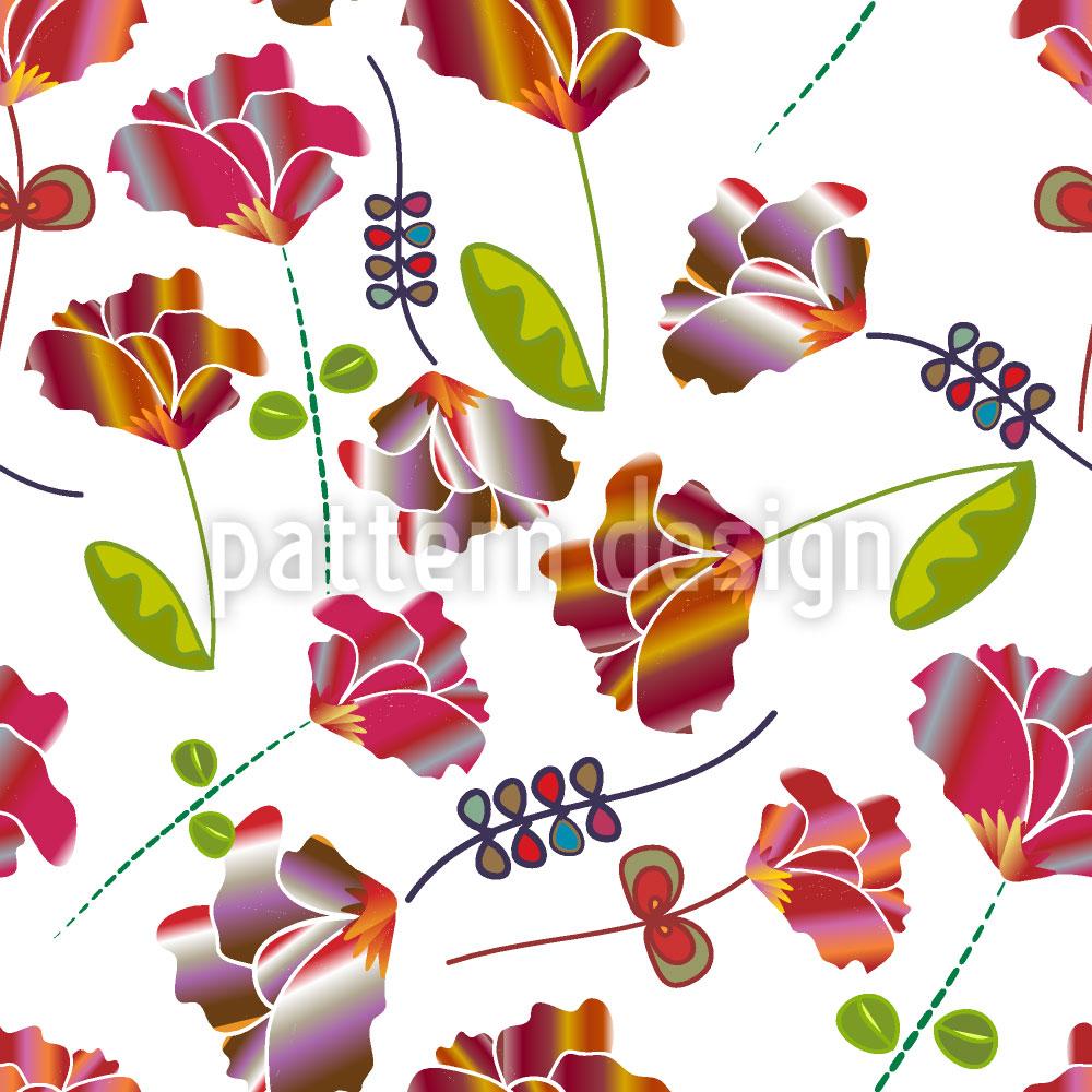 Designtapete Blumen Aus Peru Weiss