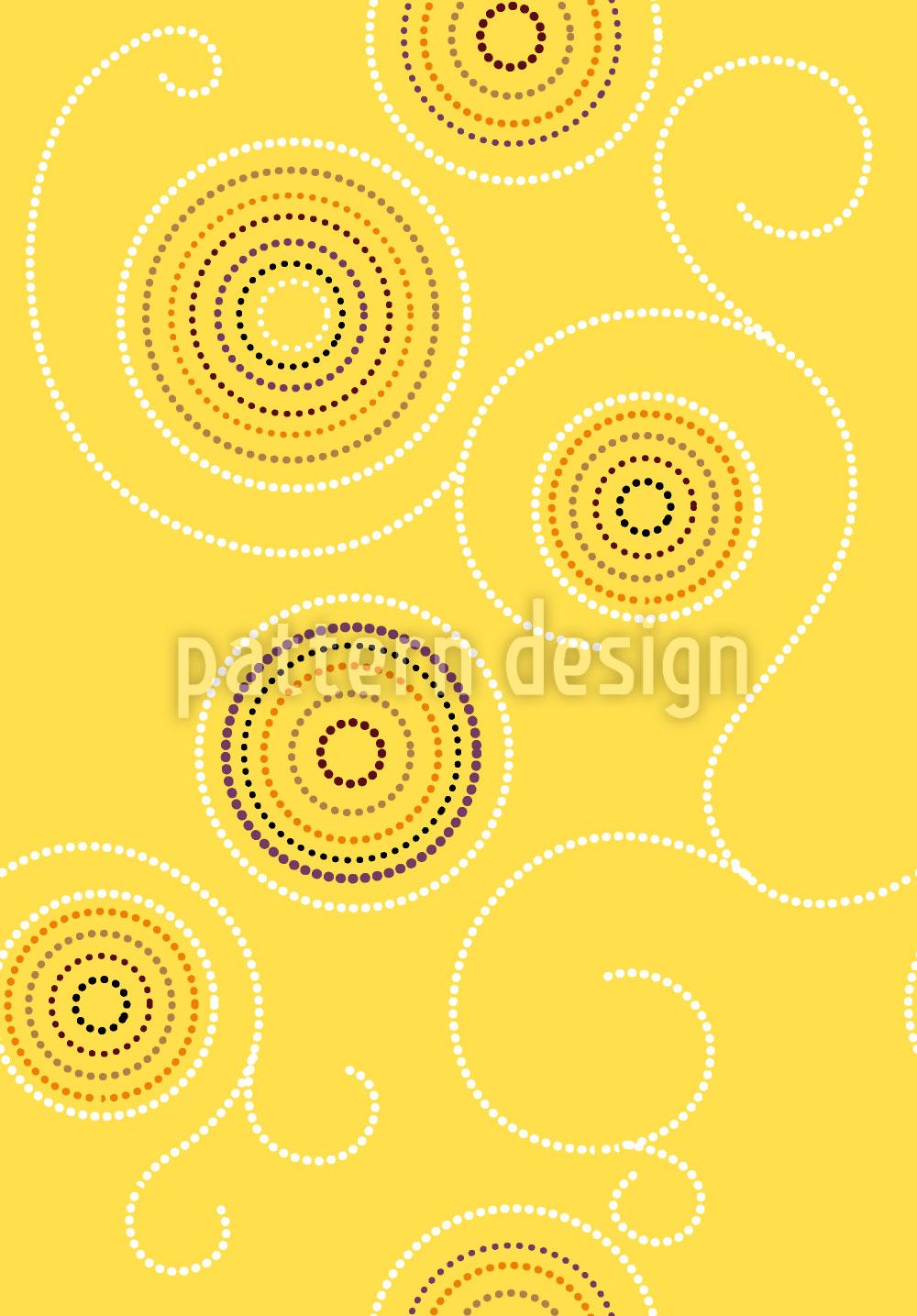 Designtapete Aborigines Sonnenkringel