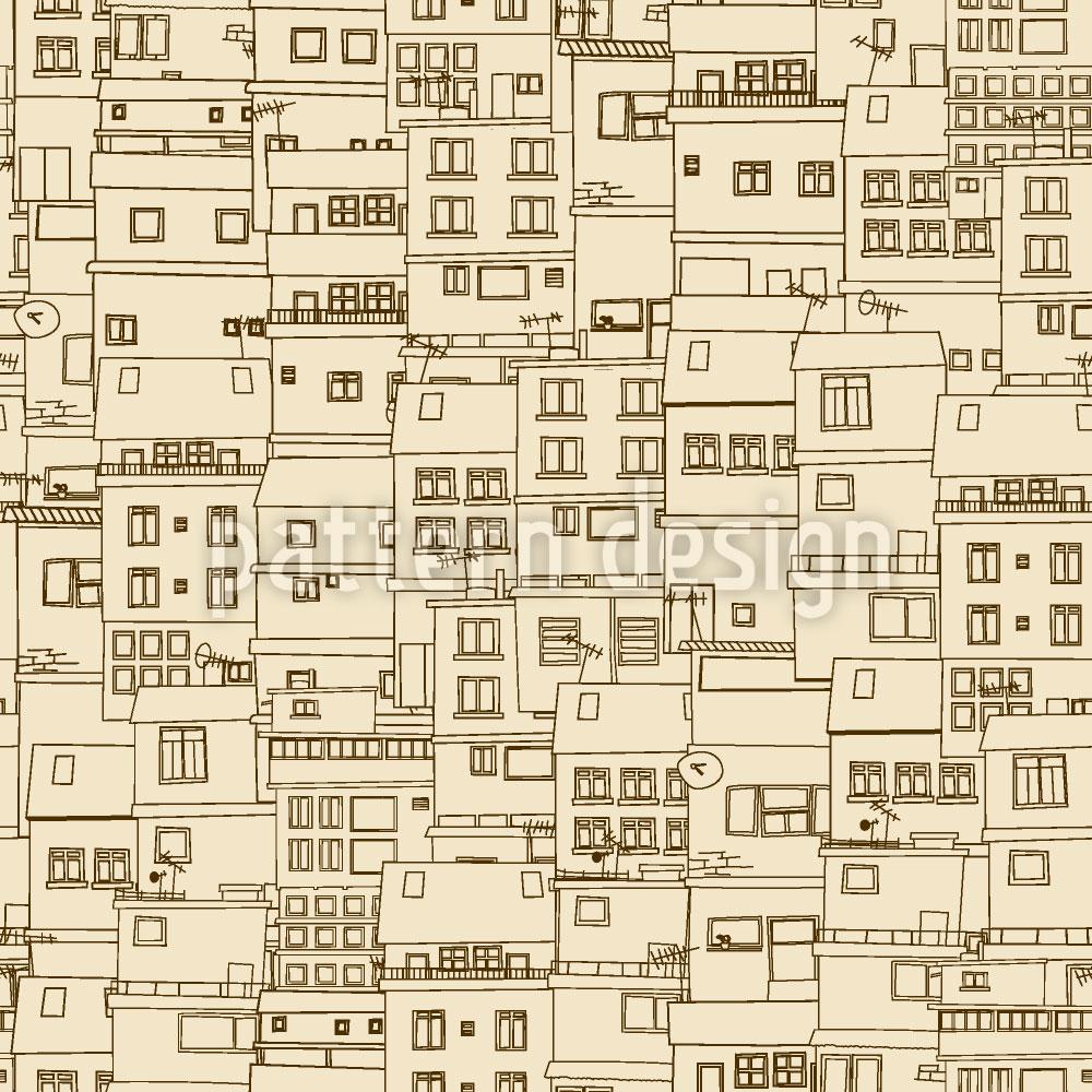 Designtapete Kleine Seite Der Stadt Monochrom