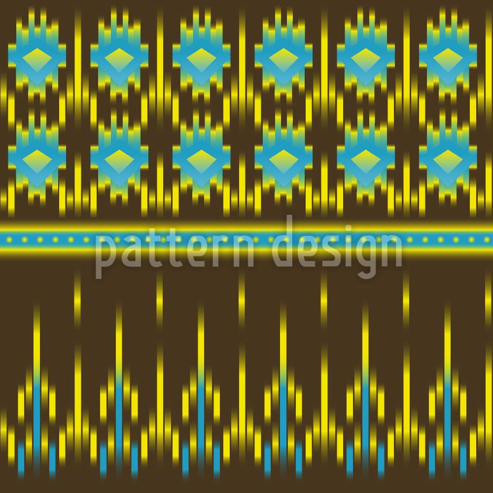 Designtapete Azteken Ikat
