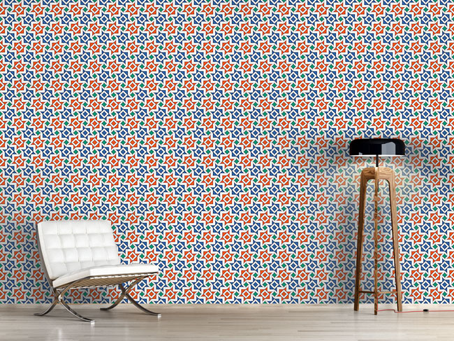 Designtapete Alhambra Geometrie