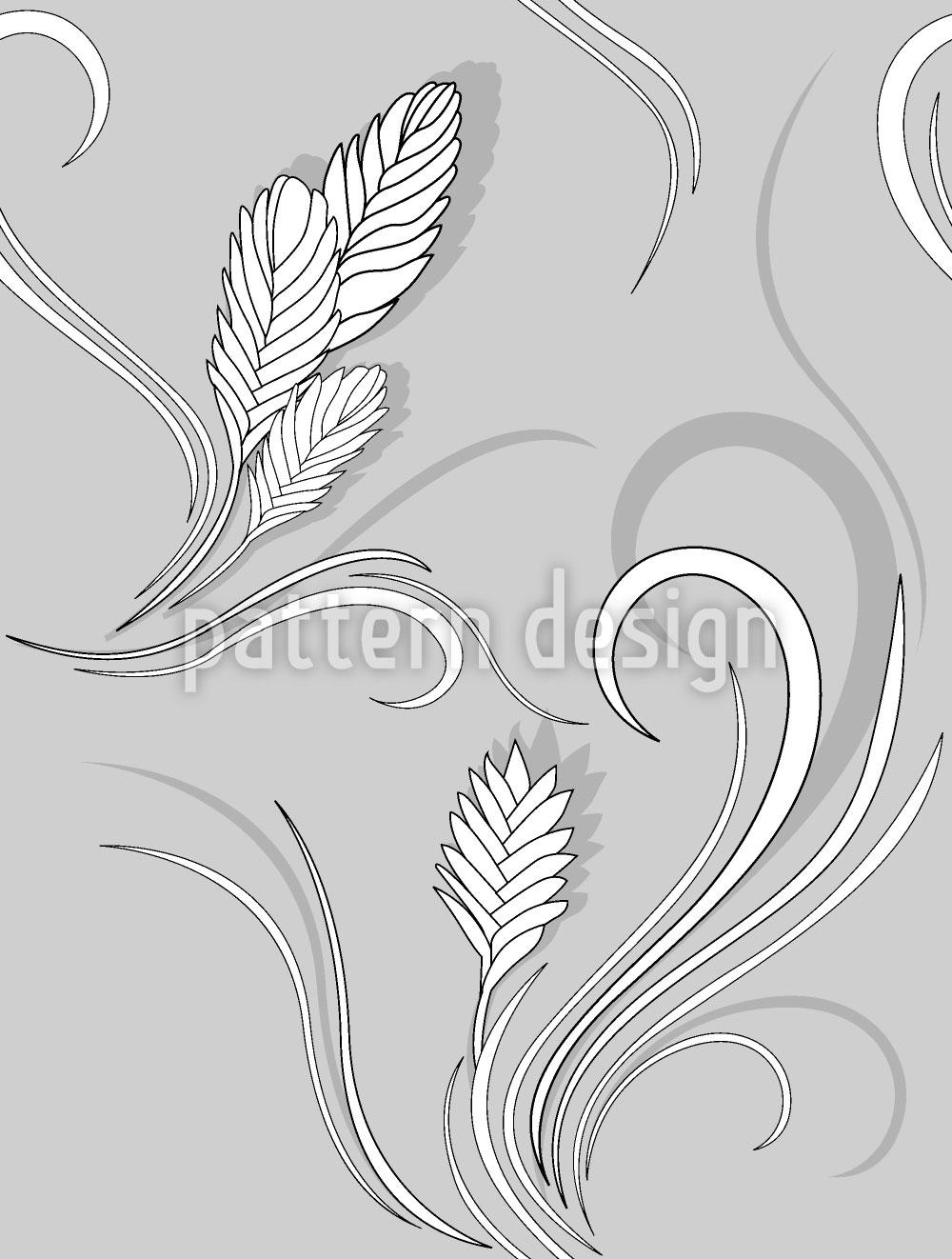 Designtapete Bromelia Monochrom