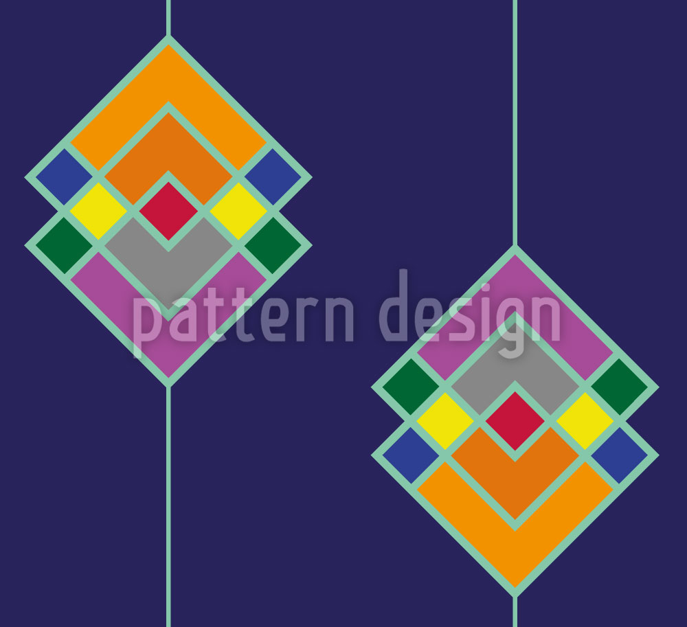 Designtapete Art Deco Color