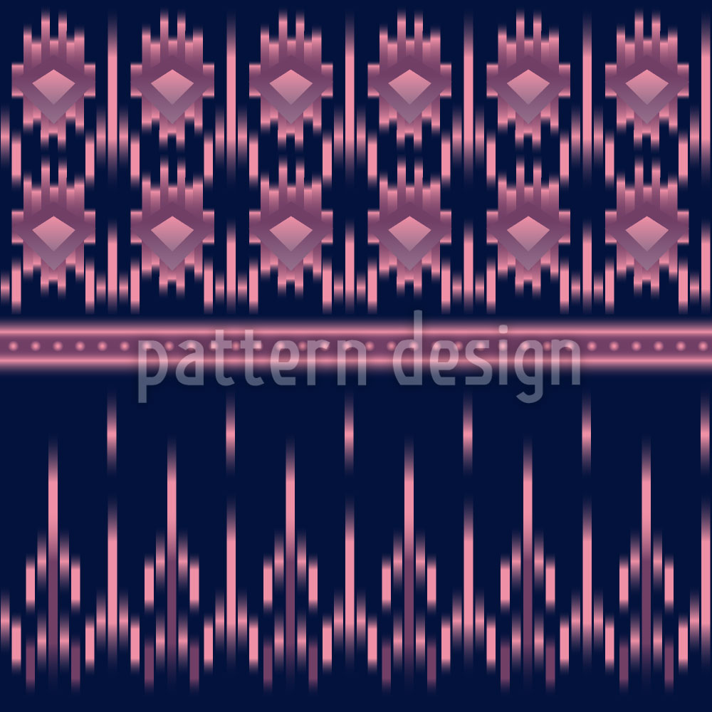 Designtapete Latin Ikat