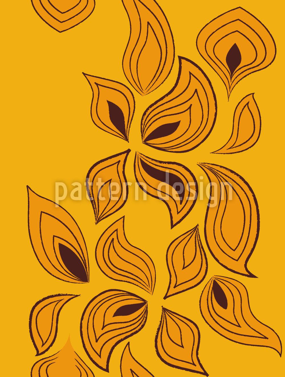Designtapete Blätter Im Wind