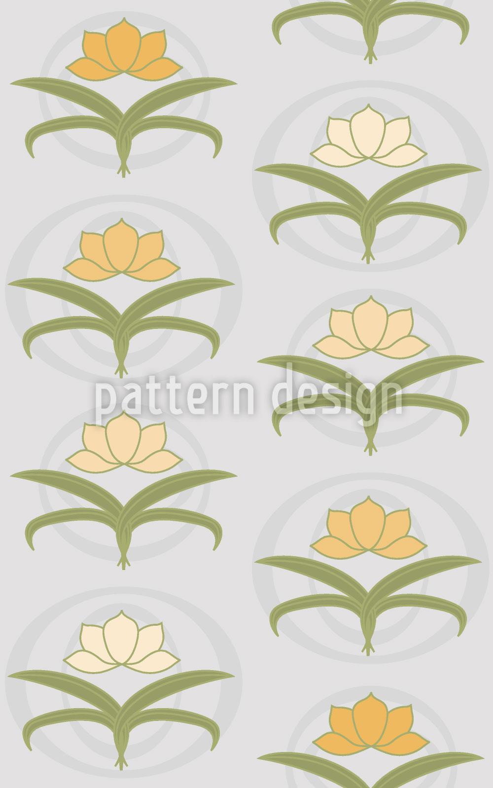 Designtapete Zarte Lilien Auf Grau